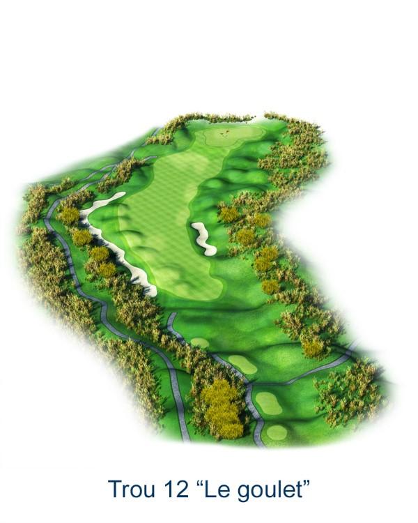 Le trou N°12 - Le Goulet (Crédit : Golf National)