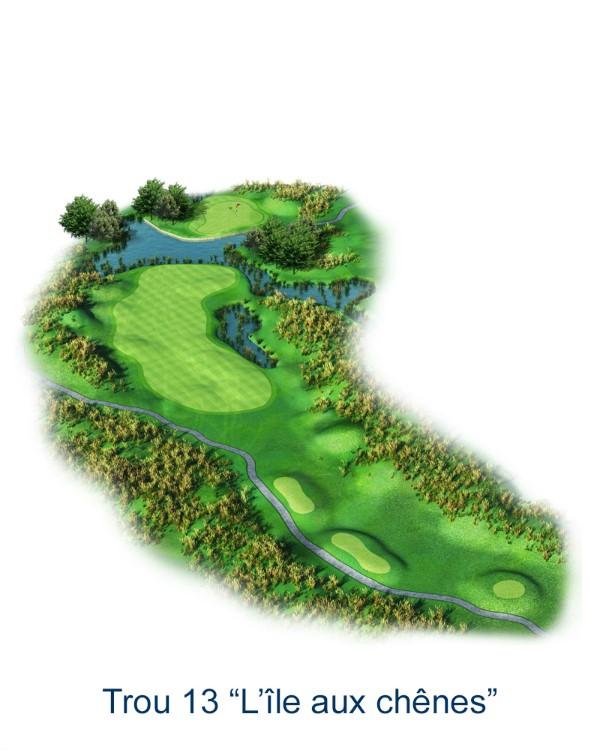 Le trou N°13 - L'ile aux chênes (Crédit : Golf National)