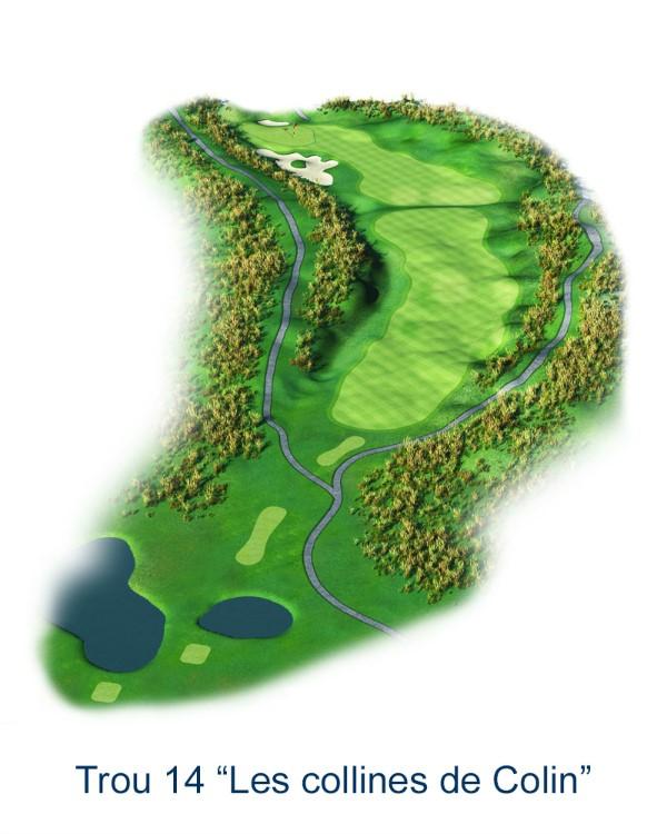 Le trou N°14 - Les collines de Colin (Crédit : Golf National)