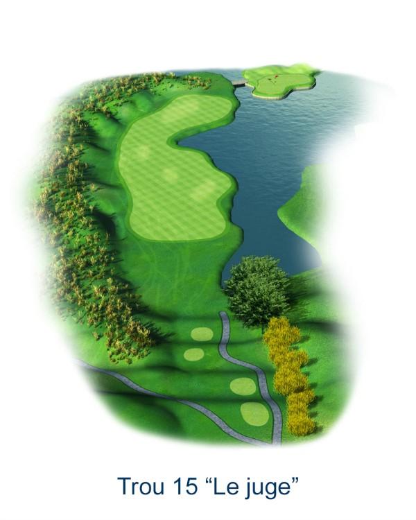 Le trou N°15 - Le Juge (Crédit : Golf National)