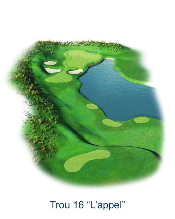 Le trou N°16 - L'appel (Crédit : Golf National)