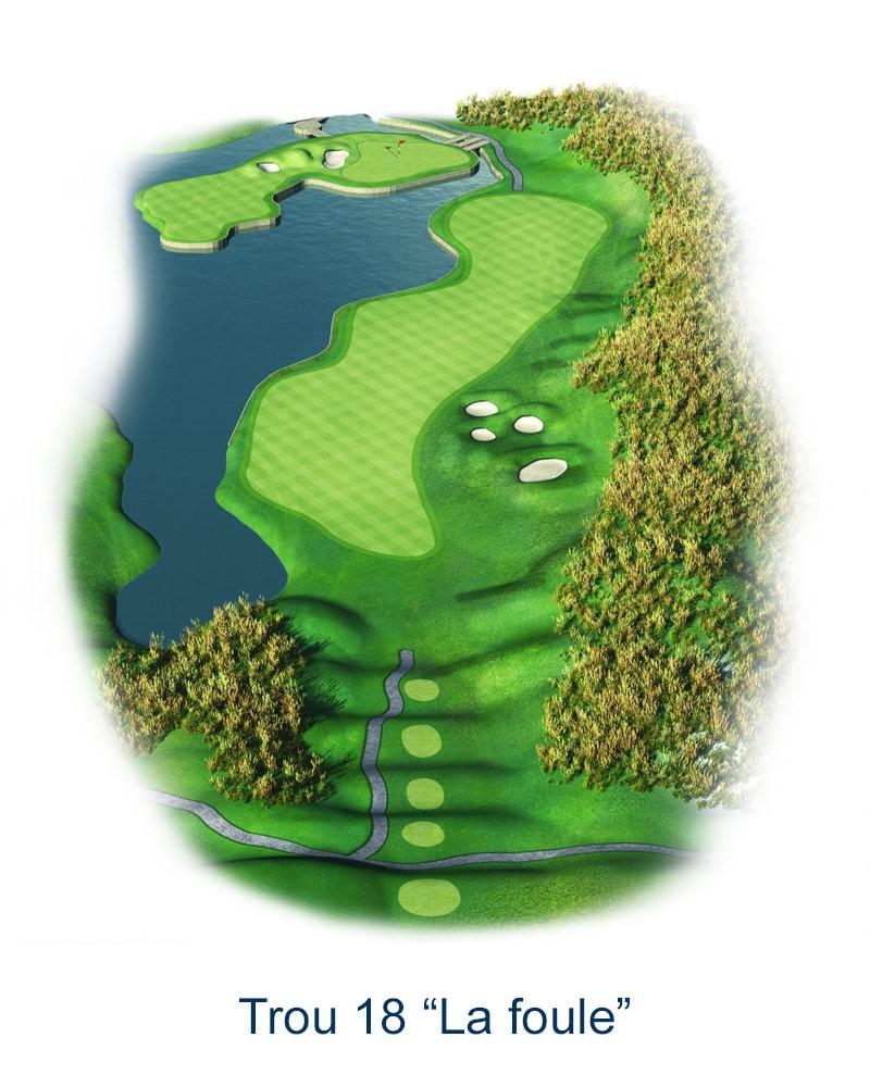 Le trou N°18 - La Foule (Crédit : Golf National)