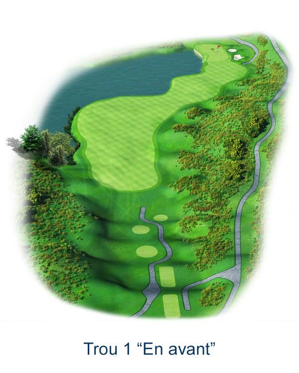 Le trou N°1 - En avant (Crédit : Golf National)