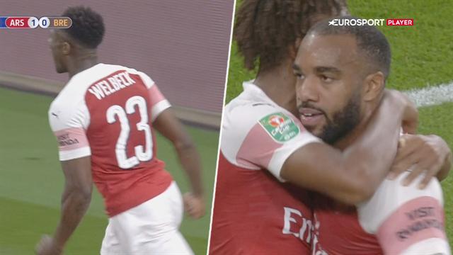 Highlights: Welbeck og Lacazette sikrede Arsenal avancement