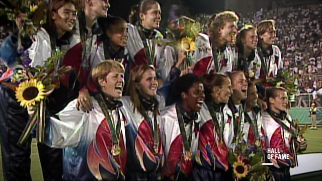 USA beat China in inaugural women's football event at Atlanta 1996