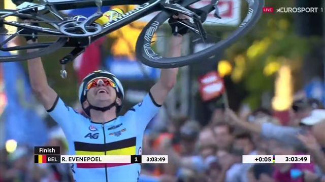 Mundiales 2018: Remco Evenepoel se consagra convirtiéndose en campeón del mundo junior en ruta