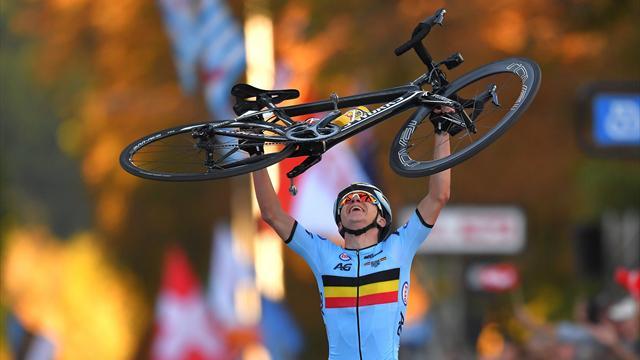 Dominant Evenepoel wins second gold in junior road race