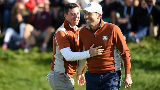 Sensational Europe build 8-4 lead with superb showing in morning fourballs