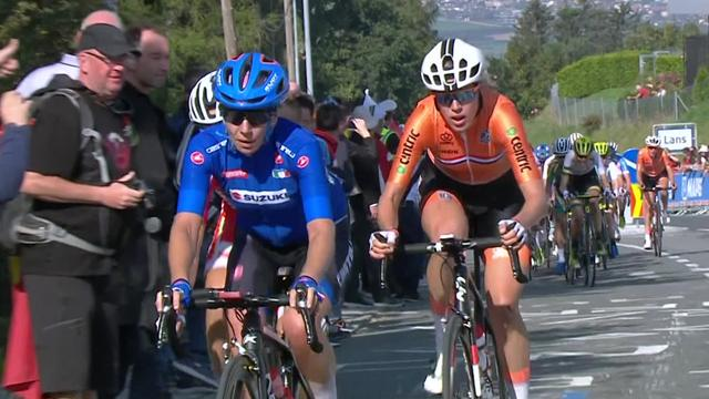 Highlights as Van der Breggen wins thrilling Women's Road Race