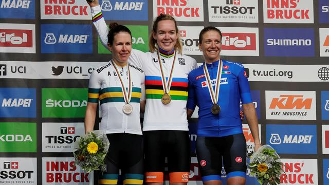 Van der Breggen takes world title with glorious solo attack