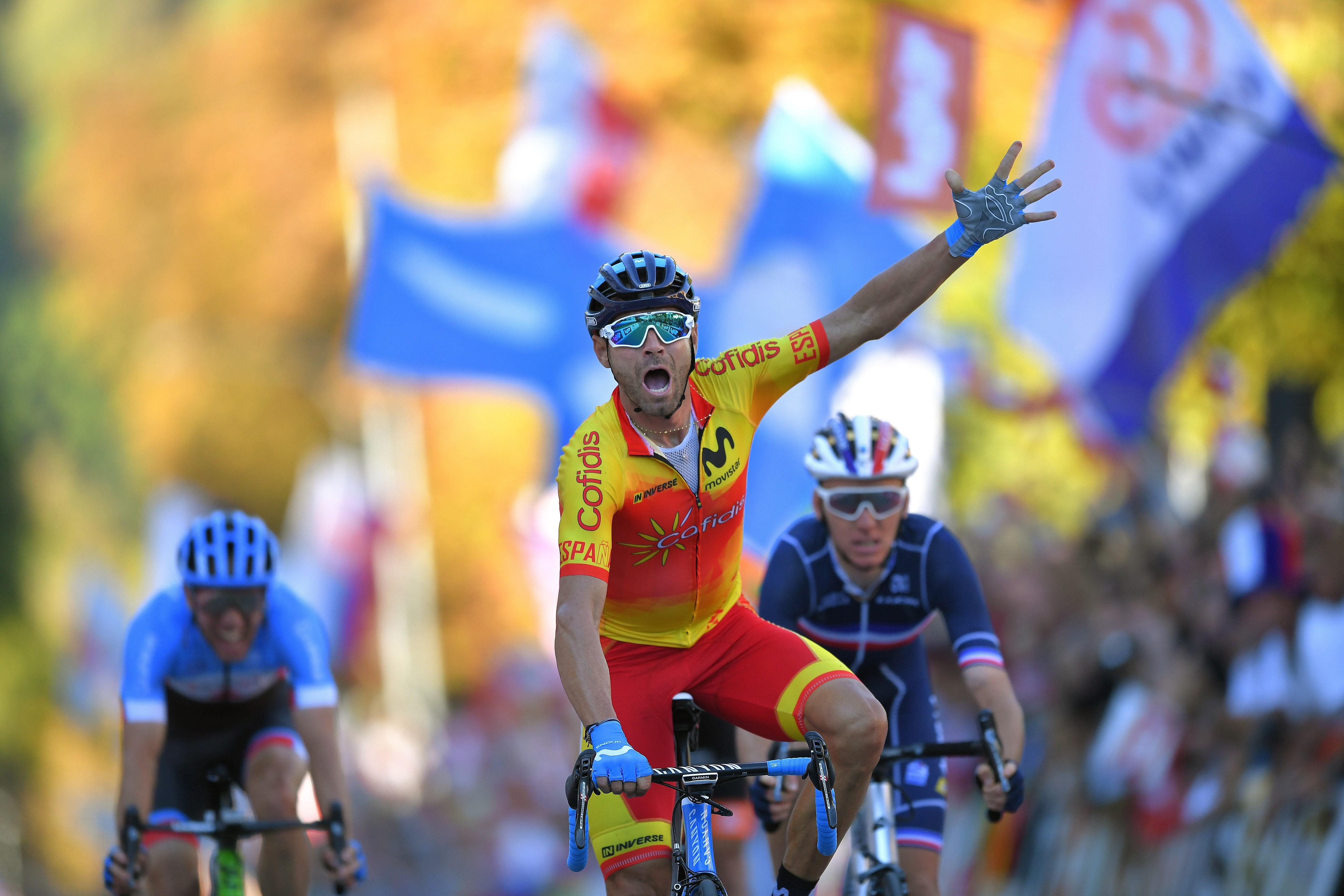 Alejandro Valverde è campione del mondo a Innsbruck, 30 settembre 2018