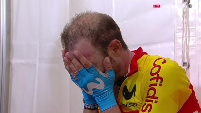 Mundiales 2018: Las emotivas lágrimas de Alejandro Valverde