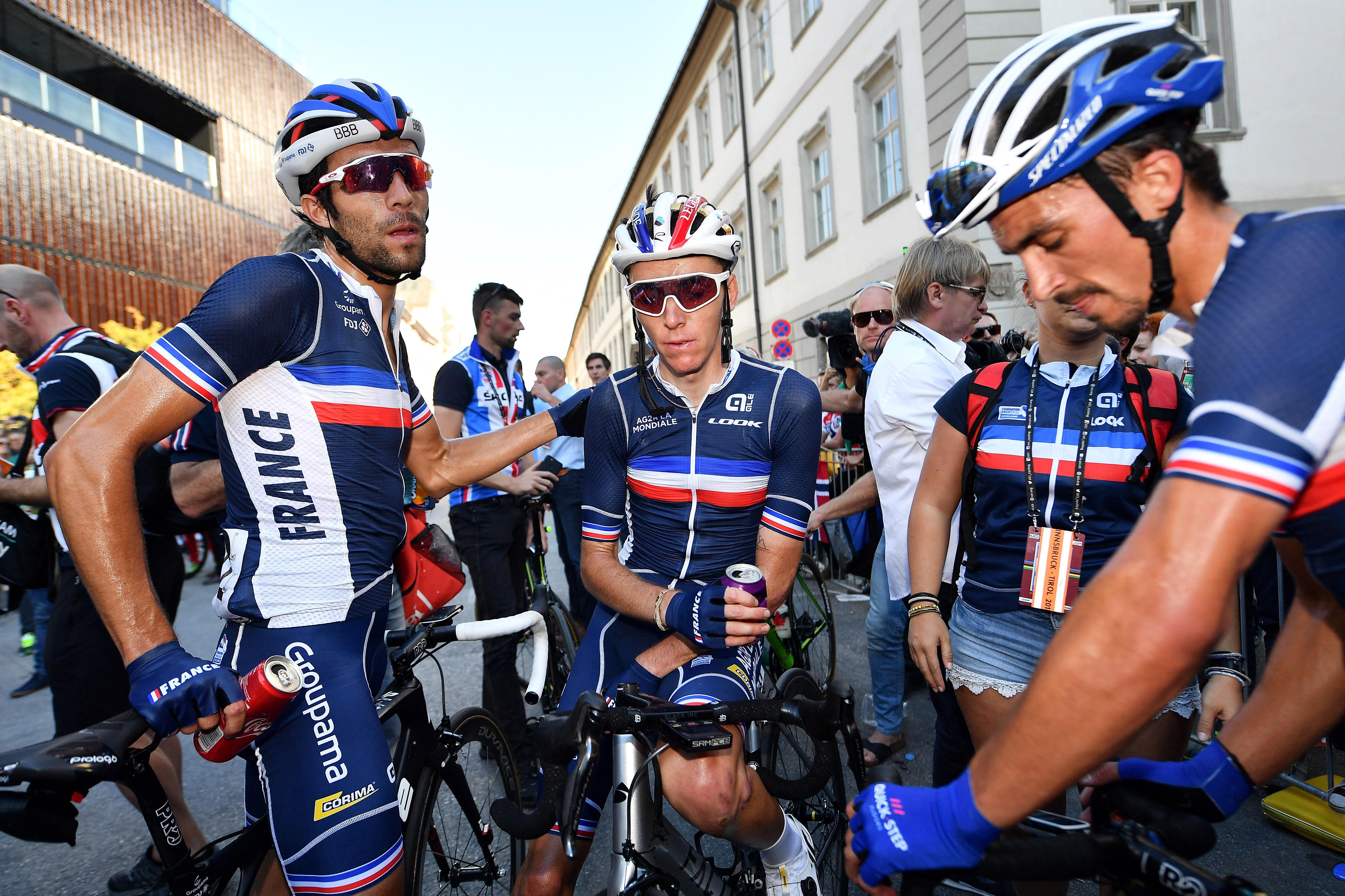 Thibaut Pinot, Romain Bardet et Julian Alaphilippe.