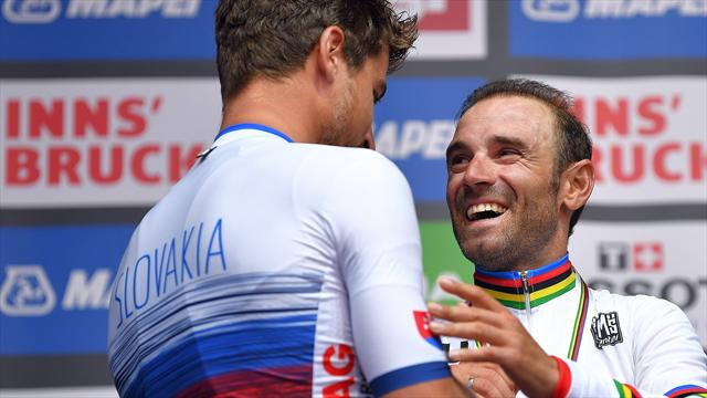The most heart-warming cycling moment of the year? When Sagan crowned Valverde