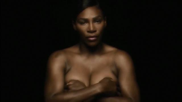 Serena Williams goes topless in video for breast cancer awareness