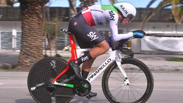 Bis tricolore di Gianni Moscon a cronometro: battuto Filippo Ganna di soli 2 secondi