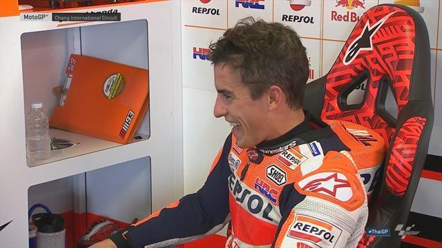 Marquez en pole devant Rossi, Xavier Siméon 20e — GP de Thaïlande
