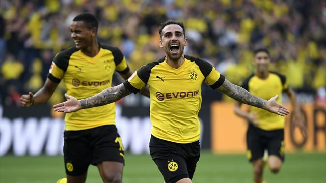 Borussia Dortmund 4, Augsburg 3: Alcacer scores late