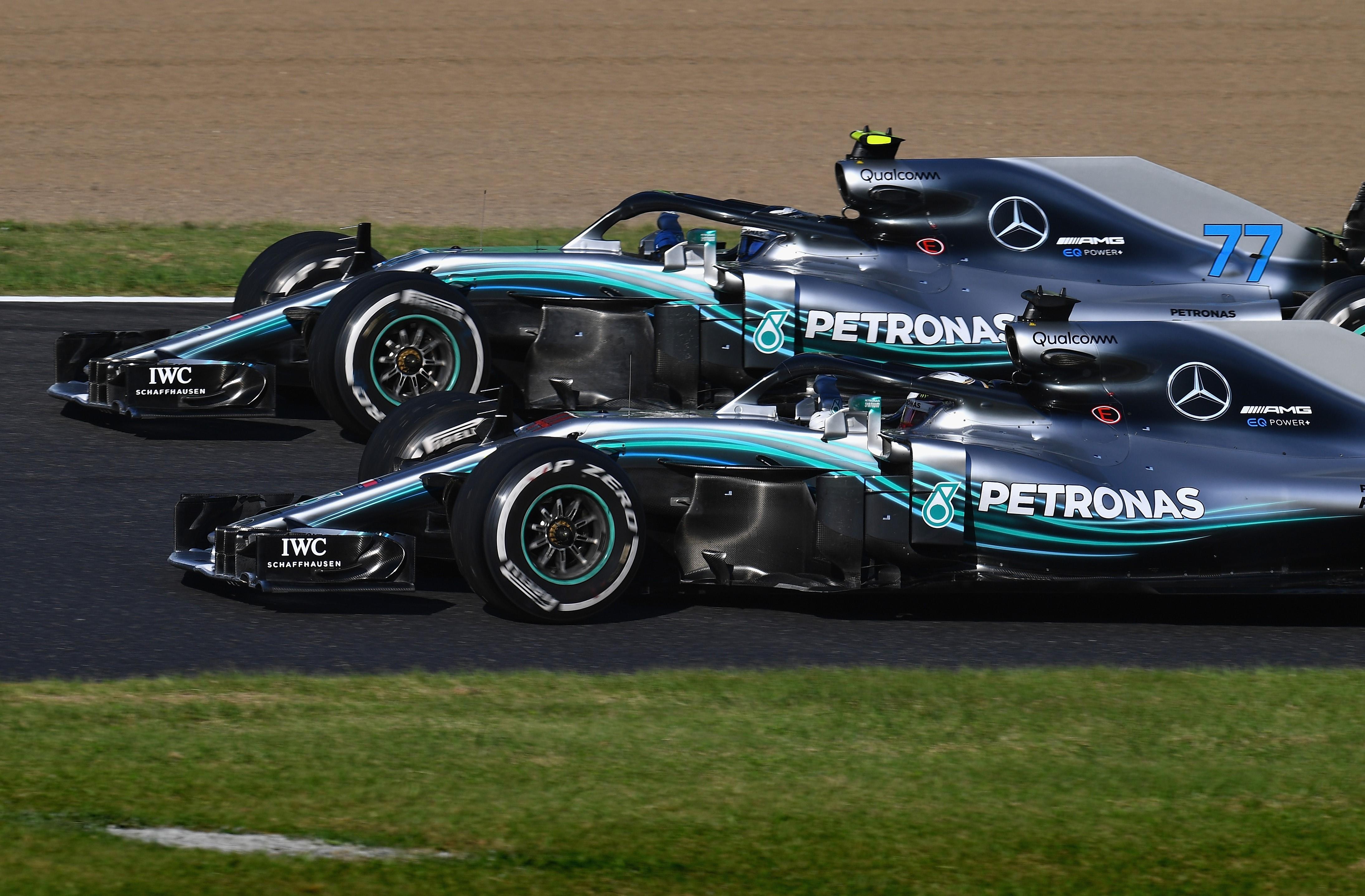 Lewis Hamilton et Valtteri Bottas (Mercedes) au Grand Prix du Japon 2018