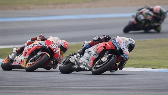 Marquez dislocates shoulder celebrating MotoGP title