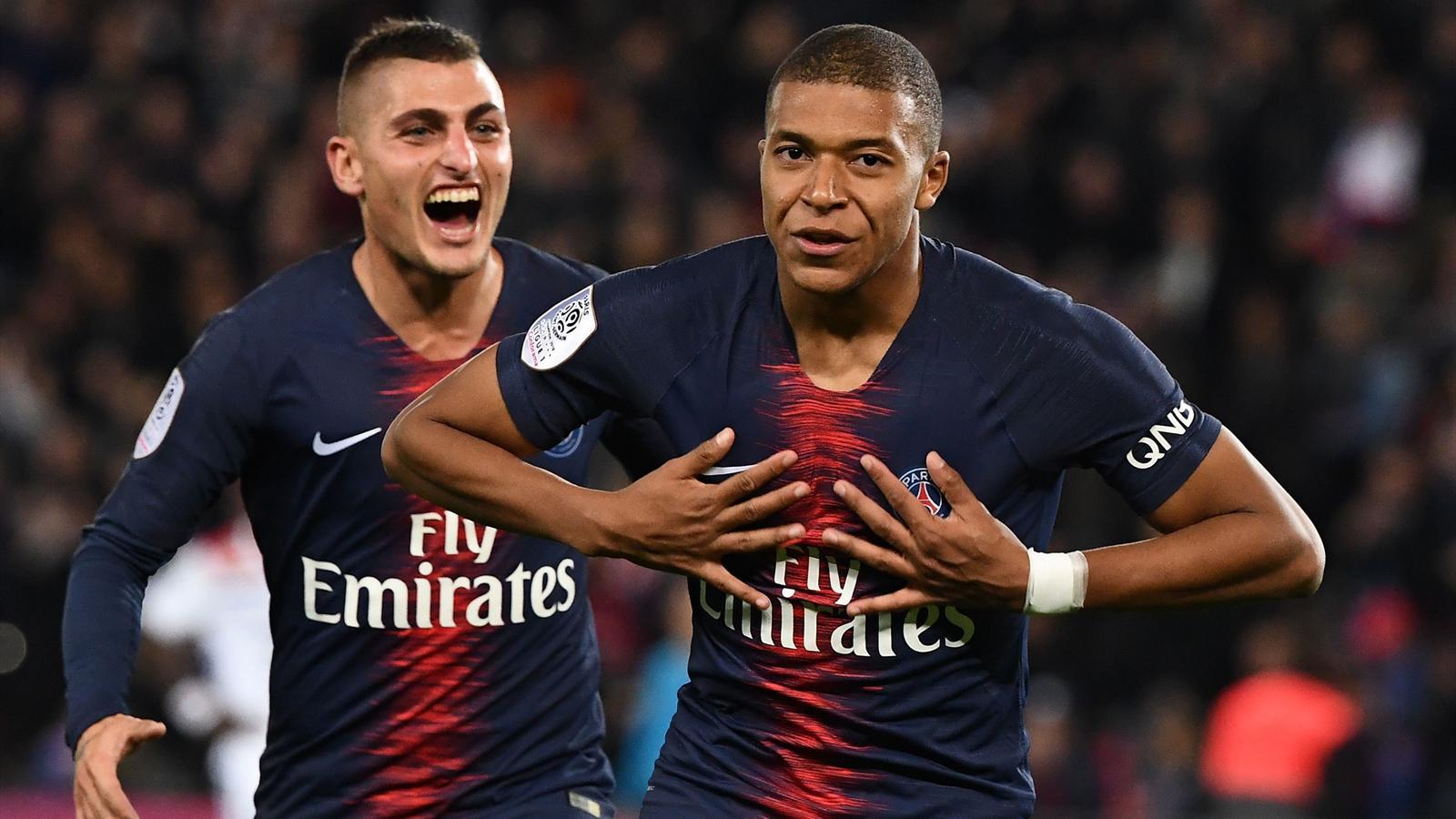 Kylian Mbappe destroys Lyon with four-goal salvo - Ligue 1 2018-2019 - Football - Eurosport ...