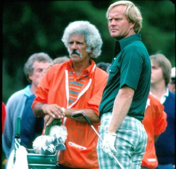 Jack Nicklaus et Angelo Argea lors de l'US Open 1978.