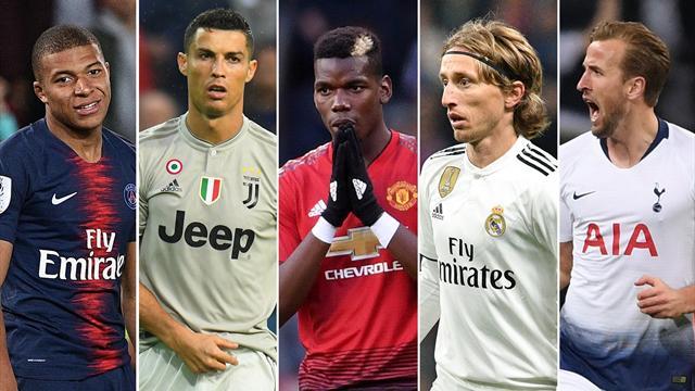 Mbappe, Pogba, Modric, Kane join Ronaldo on Ballon d'Or list
