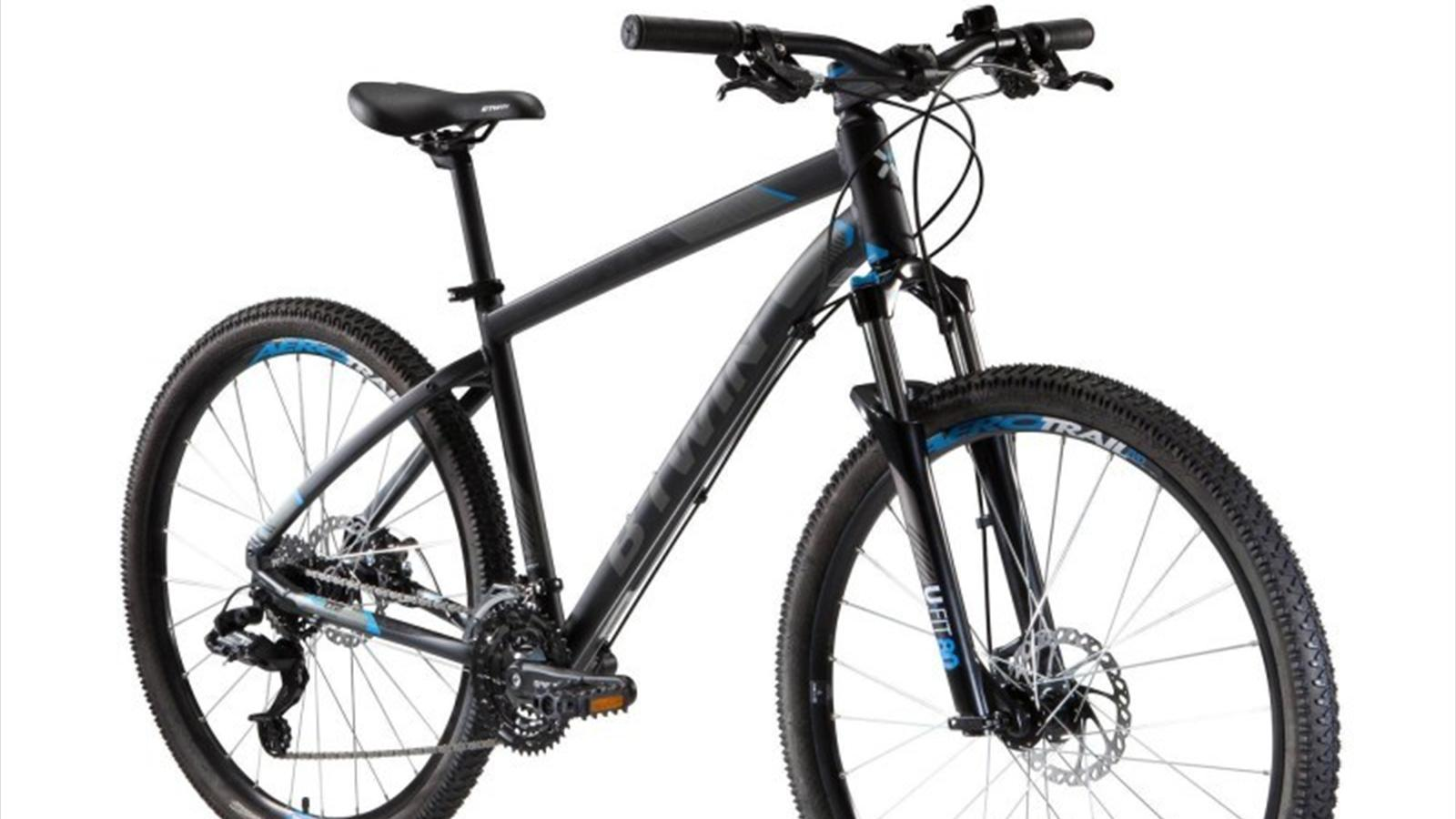 review b 39 twin by decathlon 39 s rockrider 520 mountain bike cycling eurosport. Black Bedroom Furniture Sets. Home Design Ideas