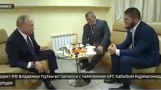 Путин – Хабибу: «Если на нас нападают извне, то мы все можем так прыгнуть, что мало не покажется»