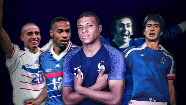 Quel temps de passage pour Mbappé par rapport aux autres grands buteurs des Bleus ?