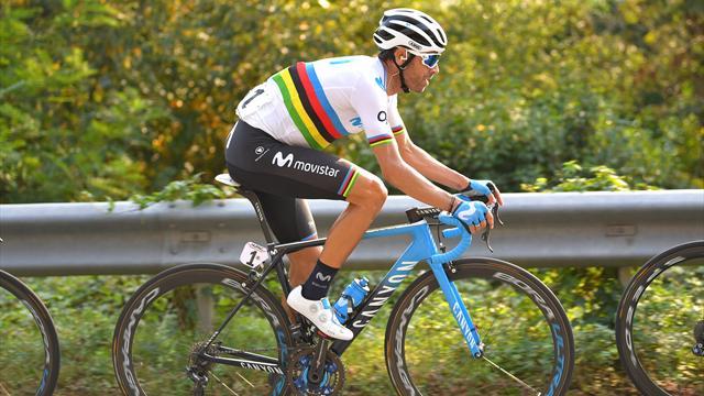 Alejandro Valverde estrenará bicicleta a juego con el maillot arcoíris en el Giro de Lombardía