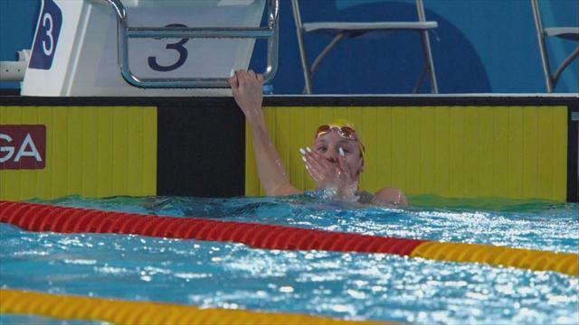 Junevik triumphs in women's 50m butterfly