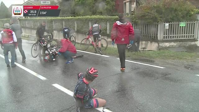 Gran Piemonte: La peligrosa caída que tuvo al equipo Fantini como el gran perjudicado