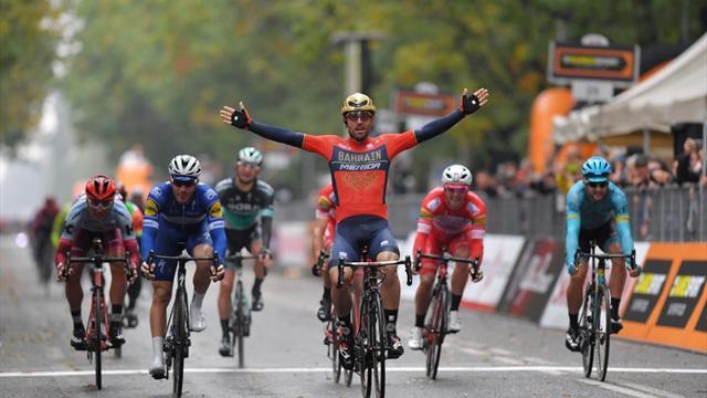 Colbrelli sterkste in chaotische editie Gran Piemonte