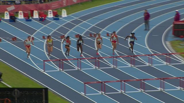 Stark smashes her lifetime best to cruise through hurdles heats