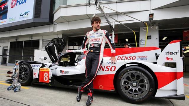 El Toyota de Alonso marca el mejor tiempo en el primer libre en Fuji