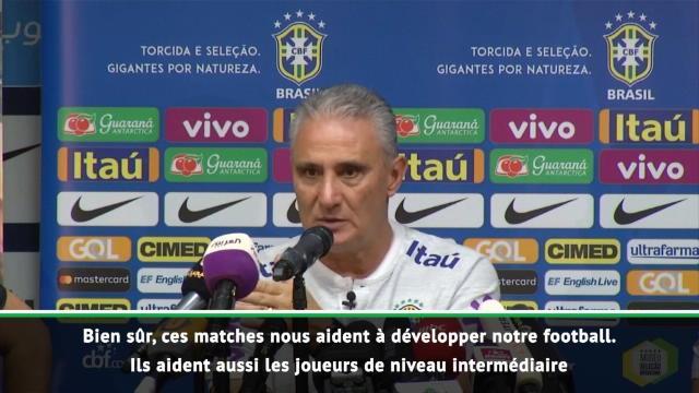 """Brésil - Tite : """"Ces matches amicaux sont très utiles"""""""