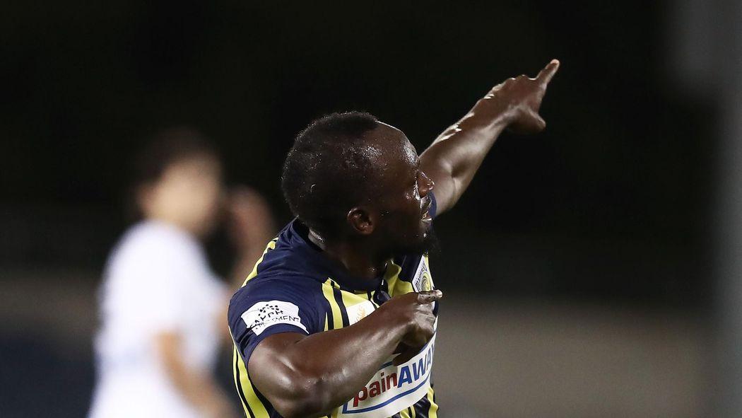 504a1288a Football news - VIDEO  Usain Bolt scores first goals for Central Coast  Mariners
