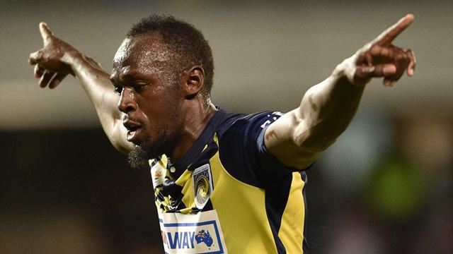 Usain Bolt marque son premier but de footballeur professionnel