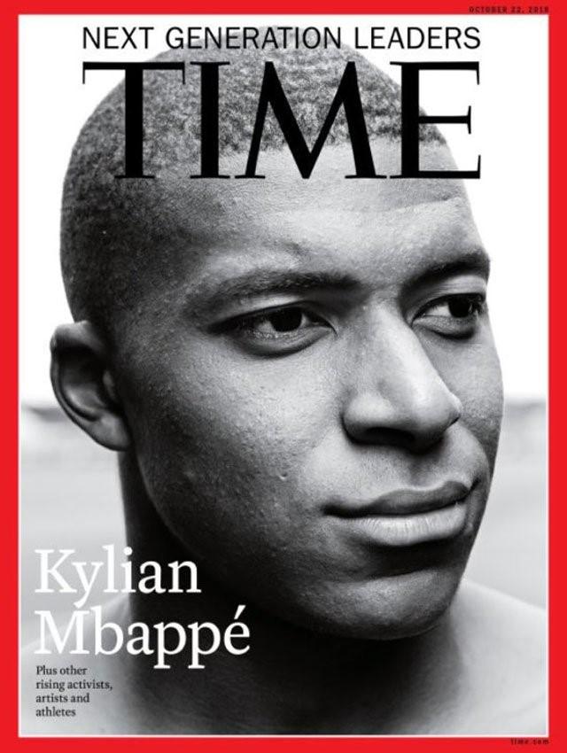 Kylian Mbappé, la copertina del Time magazine