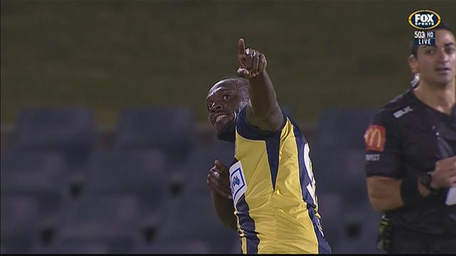 Bolt hits brace to light up Mariners trial