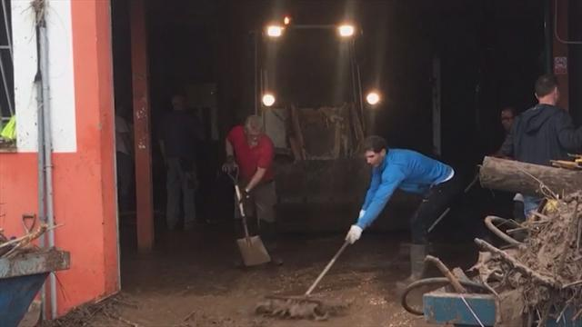 WATCH - Nadal helps with clean-up operation following Majorca flooding