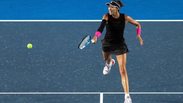 Muguruza, Yastrenska y Zhang, a semifinales; duelo Svitolina-Wang, aplazado
