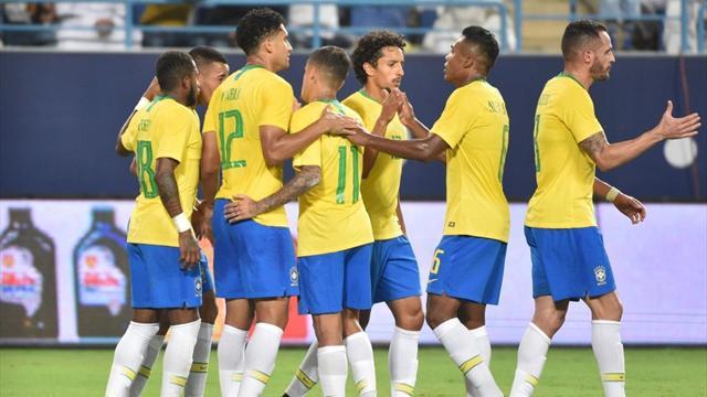 2-0 Brasile all'Arabia Saudita: segna anche Alex Sandro dopo il vantaggio di Gabriel Jesus