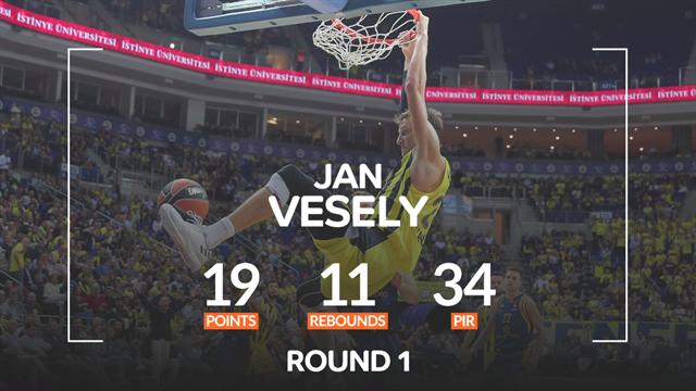 Jan Vesely MVP della 1a giornata di Eurolega: doppia doppia per l'asso ceco del Fenerbahce