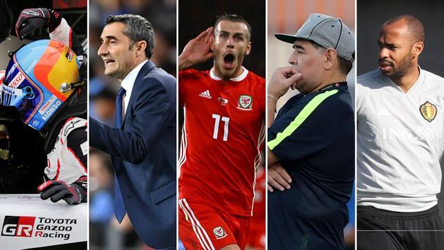 Alonso, Valverde, Bale, Maradona y Henry, los nombres del día