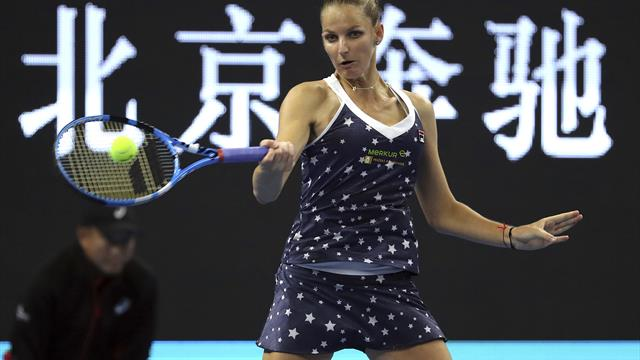 Pliskova sets up Tianjin final with Garcia