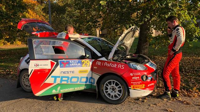 Una perdita d'olio nega il podio a Furuseth in ERC Junior U27
