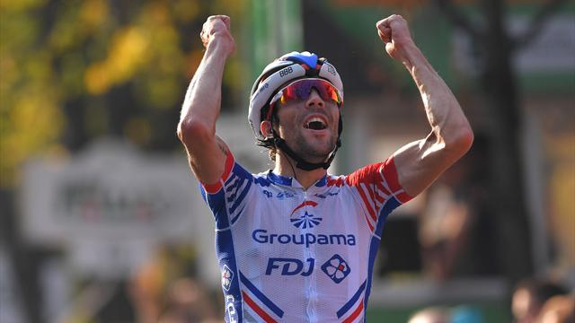Thibaut Pinot solos to Il Lombardia glory