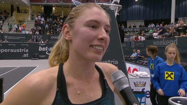 Alexandrova stunned by Linz success